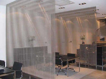 Space Divider - Metal Coil Drapery and Aluminum Curtain