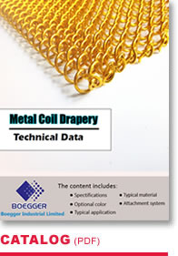 Metal Coil Drapery Technical Data